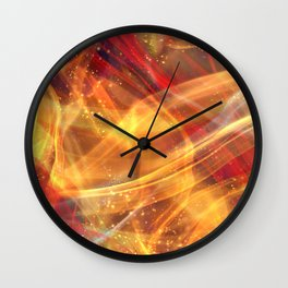 Abstract Shiny Night Lights 13 Wall Clock