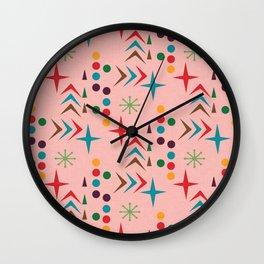Atomic pattern mid century modern #homedecor Wall Clock