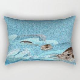 Swiming Otters (c) 2017 Rectangular Pillow