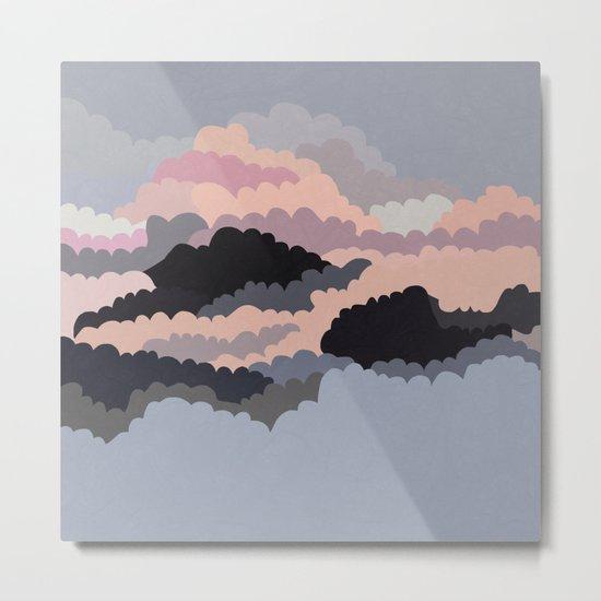 Magic Sunset Clouds On The Sky Metal Print