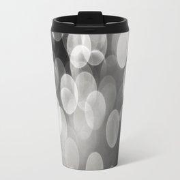 Bokeh Light In Black And White #decor #society6 Travel Mug