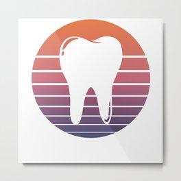 Tooth Dentist Dental Assistant Retro Vintage Gift Metal Print