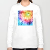tie dye Long Sleeve T-shirts featuring Tie Dye Watercolor by Phil Perkins