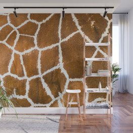 Giraffe skin close up illustration Wall Mural