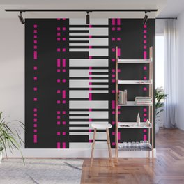 Licorice Bytes, No.16 in Black and Pink Wall Mural