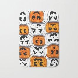 Spooky pumpkins Bath Mat