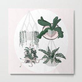 Plant Family Portrait for Plant Moms, Plant Ladies, and Plant Parenthood Metal Print