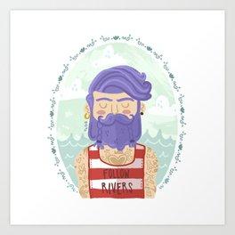 Follow Rivers Art Print
