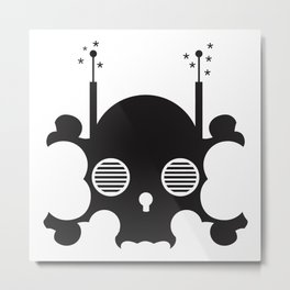 mindless digital skull - black Metal Print
