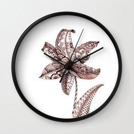 Henna Lily Wall Clock