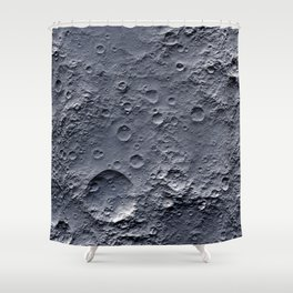Moon Surface Shower Curtain