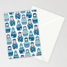 Matrioshkas Pattern Stationery Cards