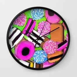 liquorice allsorts- CANDY Wall Clock