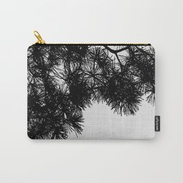 Pine Tree Black & White Carry-All Pouch