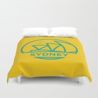 sydney Duvet Covers featuring Sydney by BMaw