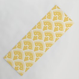 Fan Pattern 332 Yellow Yoga Mat