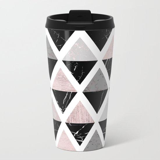 Diamonds modern art Metal Travel Mug