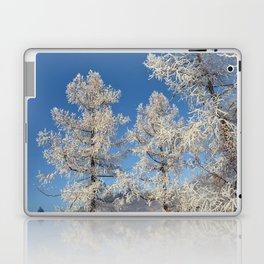larch in snow, Siberia, Russia Laptop & iPad Skin
