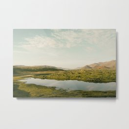The lake by the mountains II Metal Print