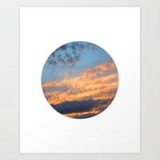 Berkshire Sunset III circle Art Print