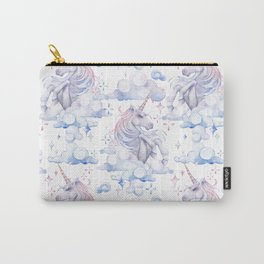 Watercolor unicorn in the sky Carry-All Pouch