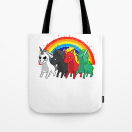 Unicorn Apocalypse Rider Rainbow joke gift Tote Bag