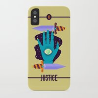 justice league iPhone & iPod Cases featuring JUSTICE by badOdds