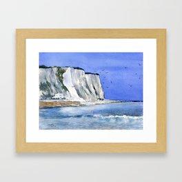 White Cliffs Framed Art Print