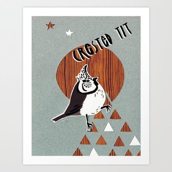 Crested tit! Art Print