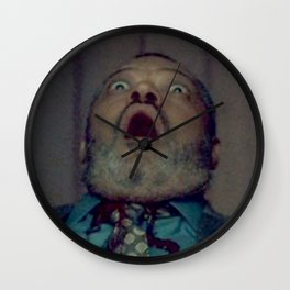 Scared Face Laurence Fishburn Wall Clock