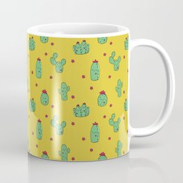 Casual Cacti on Mustard Coffee Mug