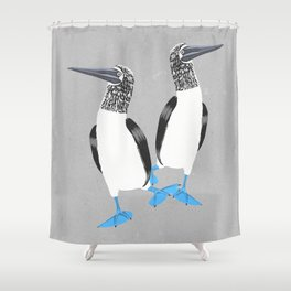 Blue-footed booby Shower Curtain