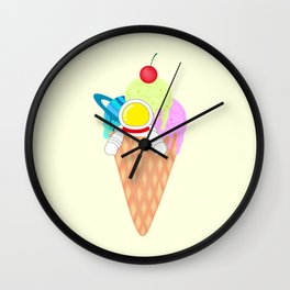 Space Odyssey Ice Cream | Astronaut Ice Cream | Space Ice Cream | Galaxy Ice Cream | pulps of wood Wall Clock