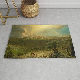"""Frederic Church """"Jerusalem from the Mount of Olives"""" Rug"""