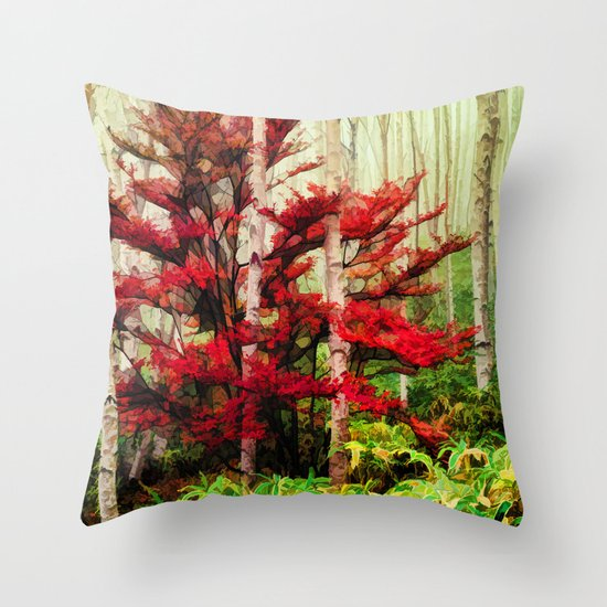 Alone Against The Odds Throw Pillow