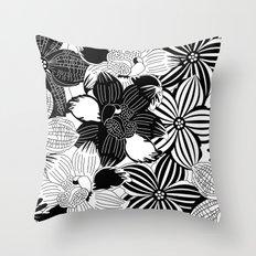 Flowers black & white serie 2 Throw Pillow