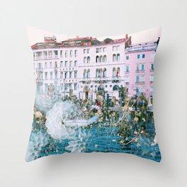 Venice in Dahlia Throw Pillow