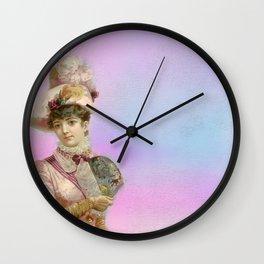 Vintage Woman Neck Gator Fancy Hat Woman Vintage Lady Wall Clock