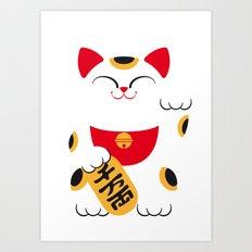 Japan Serie 4 - MANEKI NEKO Art Print