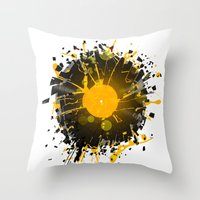 paramore Throw Pillows featuring Don't Destroy the Vinyl by Sitchko Igor