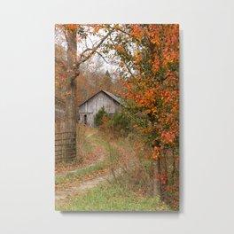 Country farm in Autumn Metal Print