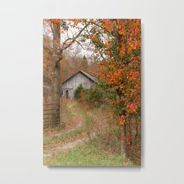 Country farm in Autumn Metal Print