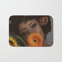 Sunflower Woman Bath Mat