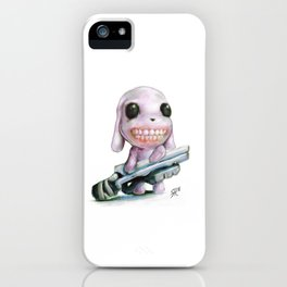 Little Dog..Big Gun | Illustration Painting iPhone Case
