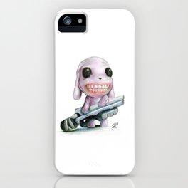 Little Dog..Big Gun | Illustration Painting iPhone Case