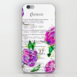 Book contents - Floral painting iPhone Skin