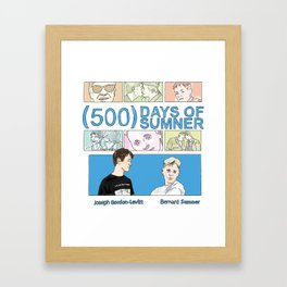 500 Days of Sumner Framed Art Print