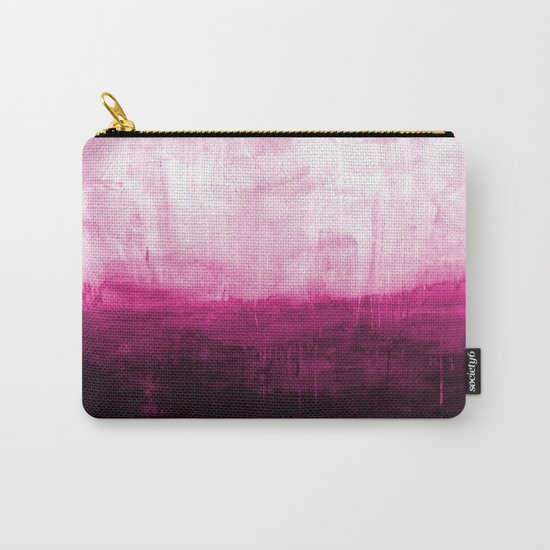 Paint 7 pink abstract painting ocean sea minimal modern bright colorful dorm college urban flat Carry-All Pouch