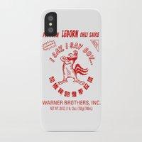 sriracha iPhone & iPod Cases featuring Foghorn Leghorn Sauce (Red) by Huemanitee