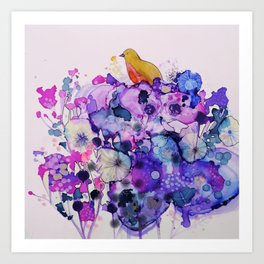 purple peace Art Print